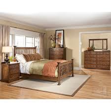 mission oak 4 piece king bedroom set
