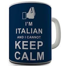 twisted envy italian cannot keep calm ceramic novelty gift mug
