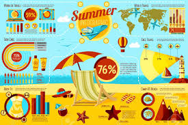 Set Of Summer And Travel Infographic Elements With Icons Different