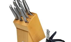 furi pro wood knife block set 9 piece bondi harvest
