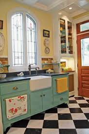 Checkered Kitchen Floor Photo Gallery Checkerboard Kitchen Floors Old House Restoration