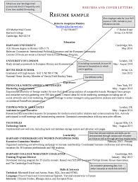 Resume Harvard College A Good Resume Example
