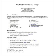 Fast Food Resume Awesome 7021 Fast Food Cashier Resume New Easy Fast Food Resume Samples With Fast