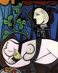 green leaves and bust by picasso