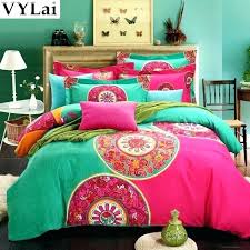 bohemian style quilts king organic cotton luxury bedding sets queen size quilt duvet cover bed