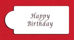 Happy Birthday Business Card Happy Birthday Business Card Cake Stencil