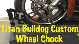 titan bulldog custom profile motorcycle wheel chock cradle tutorial review ers guide you