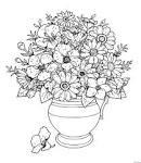 Раскраски кувшина с цветами