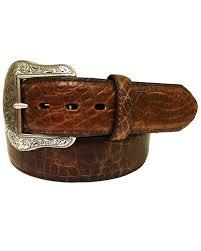 zoomed image roper men s cognac crocodile print leather belt cognac hi res