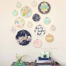 diy wall art ideas for teen rooms diy embroidery hoop wall art and