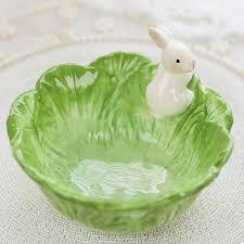 Decorative Salad Bowls ceramic bowl cabbage rabbit salad bowl decorative animal fruit 1