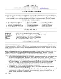 Best Consultant Resume Template Technology Consultant Best
