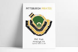 Pittsburgh Pirates Stadium Seating Chart Pittsburgh Pirates Pnc Park Mlb Stadium Map Ballpark Map Baseball Stadium Map Gift For Him Stadium Seating Chart Man Cave
