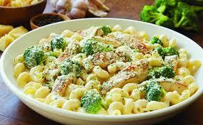 olive garden chicken alfredo with broccoli. Grilled Chicken With Broccoli Alfredo And Olive Garden