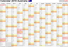 printable 6 month calendar 2019 australia calendar 2019 free printable pdf templates