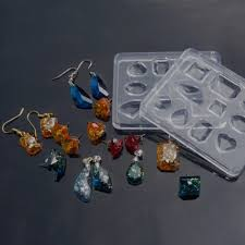 Jewelry Designs Diy Us 1 72 6 Off 10 Designs Gem Shape Jewelry Silicone Resin Earring Pendant Mold Jewelry Making Diy Craft In Jewelry Tools Equipments From Jewelry
