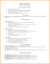 Relevant Skills Resume Examples Of Resumes Resume Sample Skills