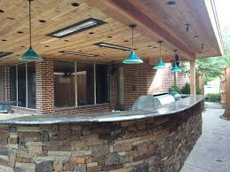 pendant lighting for bars. dallas landscape lighting installed these toltec light fixtures in our rockwall tx customeru0027s outdoor kitchen pendant for bars