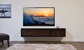 In Wall Entertainment Cabinet Floating Entertainment Stand Eco Geo Espresso 2pc Woodwaves