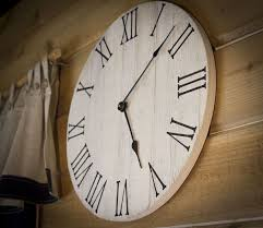large wall clock wood farmhouse wall clock rustic wall clock wall clock large