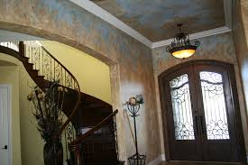 faux finish walls italian villa textured walls and ceiling with sky