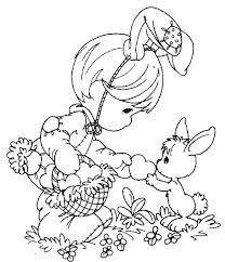 Coloring Pages Free Printable Easter Printable Coloring Pages Basket