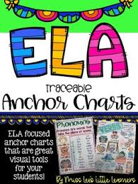 Ela Anchor Charts Bundle Traceable