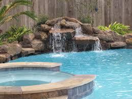 Crammed Inground Pool Waterfalls Swimming Waterfall Kits Backyard