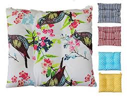 tropik home fortable seat pads garden kitchen dining chair cushions tie on birds