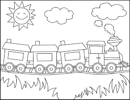 Small Picture Simple Train Drawing Free Printable Train Coloring Pages For Kids