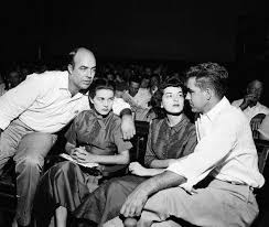 review timothy b tyson s blood of emmett till reveals another  j w milam left and roy bryant right sit their wives in