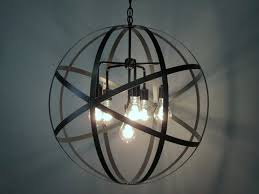 dishy metal orb light fixture