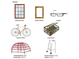 1 countable a strong border or structure of wood metal etc that holds a picture door piece of glass etc in position a picture frame aluminium
