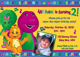 barney party invitation template barney birthday party invitations oxsvitation com