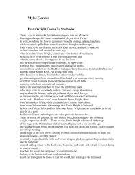 Myles Gordon - Muddy River Poetry Review
