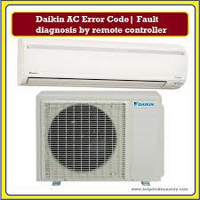 daikin ac error code fault diagnosis