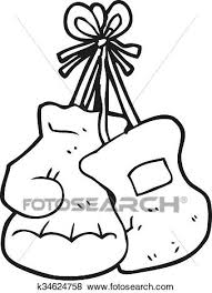 clip art black and white cartoon boxing gloves fotosearch search clipart ilration