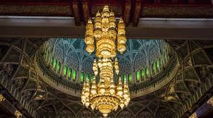the world s largest chandelier at the sultan qaboos grand mosque in mu oman