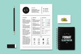 Cat Resume Template Illustrator Resume Templates Creative Market Cool Illustrator Resume