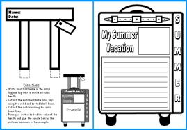 summer vacation suitcase templates fun