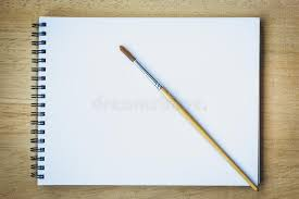 paintbrush on blank drawing paper book stock image image of artist free