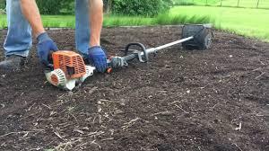 stihl km 130r with minicultivator attachment bfkm stihl garden tiller45