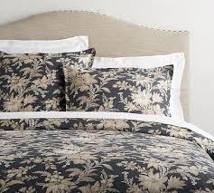 linen duvet cover queen. Augustine Belgian Flax Linen Duvet Cover, Full/Queen, Charcoal/Flax Cover Queen