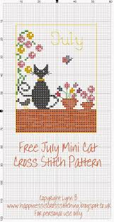 Cat Cross Stitch Patterns Amazing Happiness Is Cross Stitching Mini Cat Cross Stitch Freebies