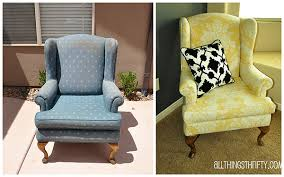 Upholstering A Wing Back Chair Upholstery Tips All Things Thrifty  Reupholstering An Armchair