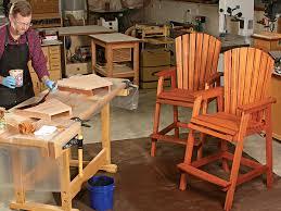 VIDEO Bar Height Adirondack Chair Build Woodworking Blog