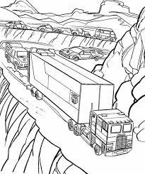 Kids N Fun Kleurplaat Vrachtwagens Vrachtwagen Door De Bergen