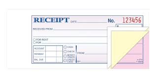 receipt for rent adams money rent receipt book carbonless 3 part 50 st bk