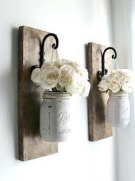 rustic wall sconces rustic wall decor wall sconces hanging mason jars decor farmhouse rustic wall sconces candle