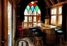 treehouse masters brewery. Inside, A Custom Bar Was Designed With Old Wine Barrels, Fully Functional Brewing Set Up And European-style Draft System. Treehouse Masters Brewery